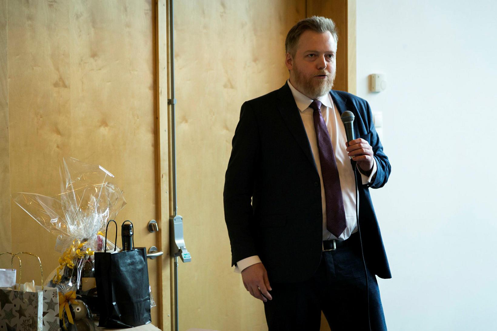 Sigmundur Davíð Gunnlaugsson lék á alls oddi.