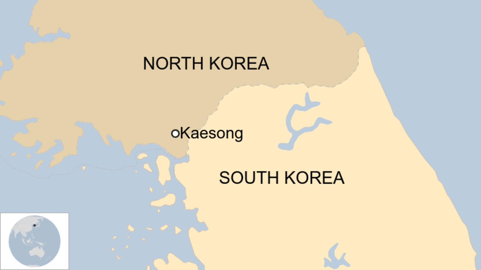 Kaesong er við landamærin, Norður-Kóreu megin.