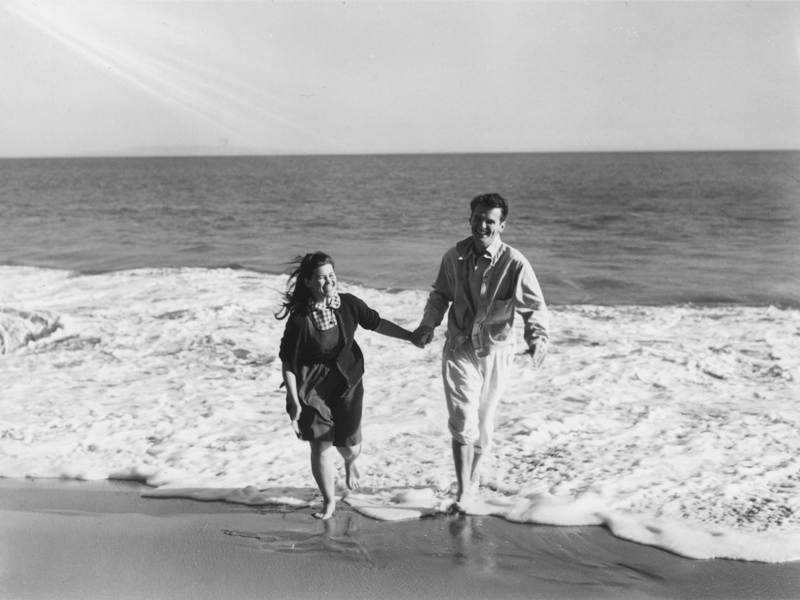 Hönnuðurnir Ray og Charles Eames.