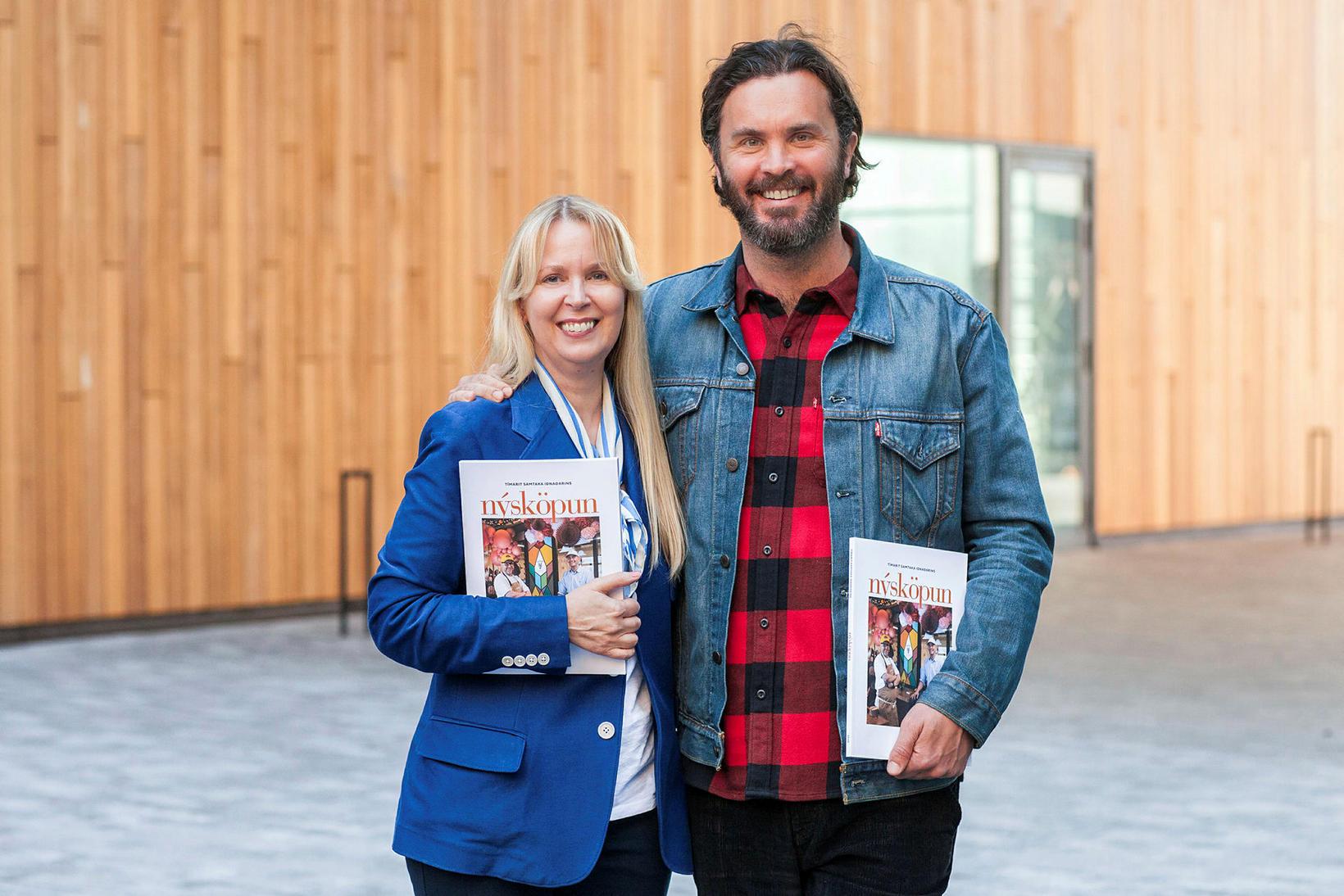 Margrét Kristín Sigurðardóttir og Baldur Kristjánsson.