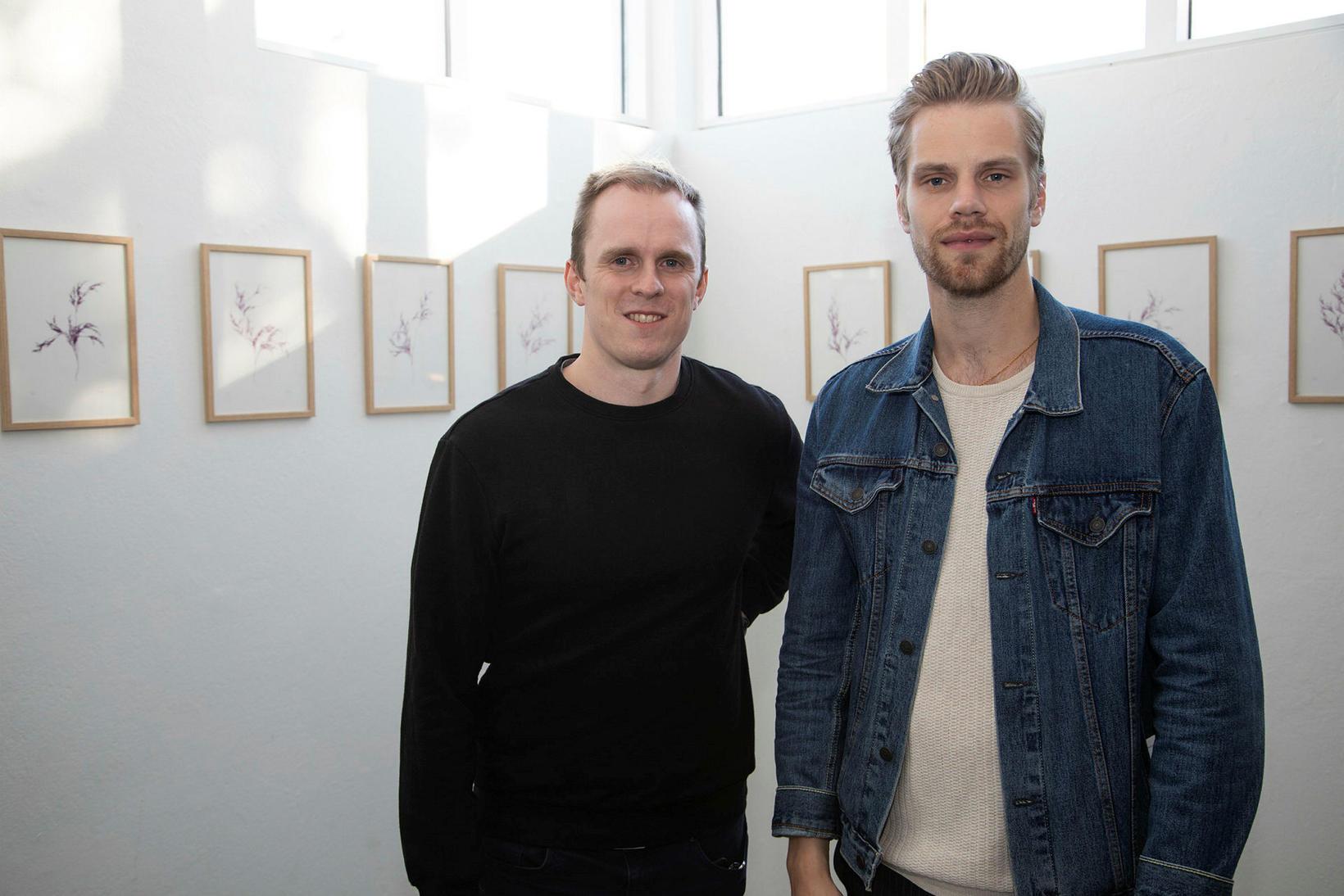 Þorkell Einarsson og Kristján Eldjárn.
