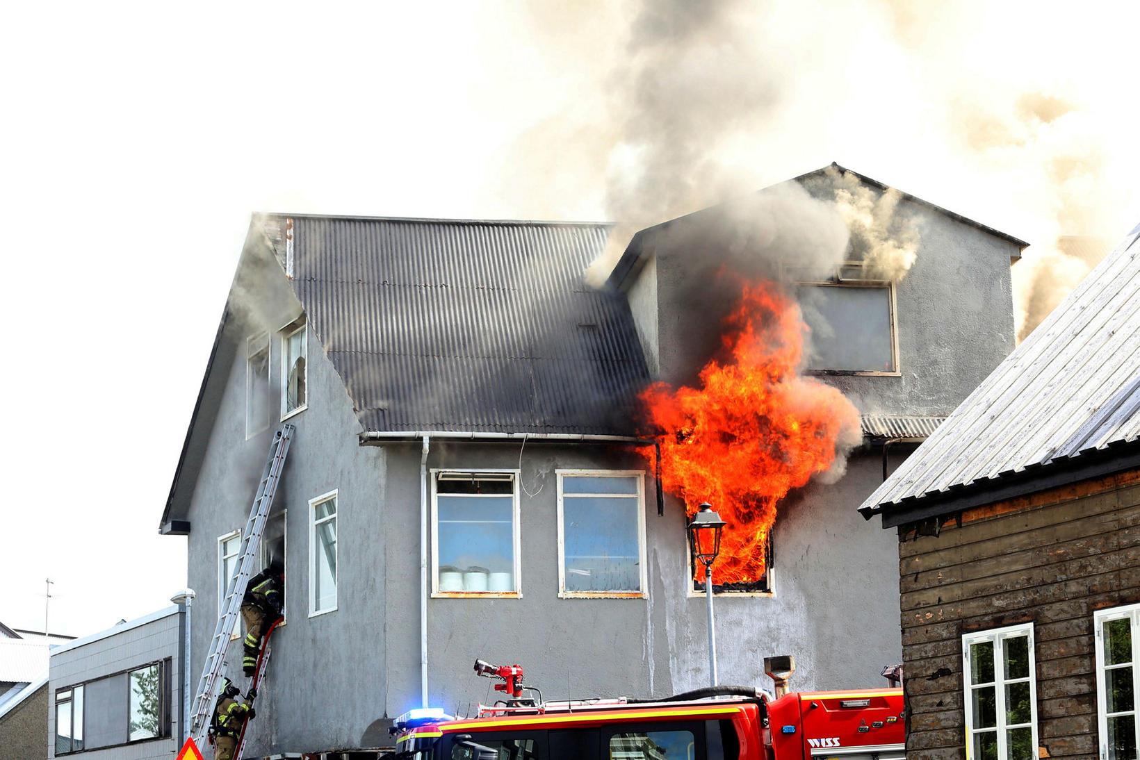 The house on Bræðraborgarstígur 1, where three people lost their …