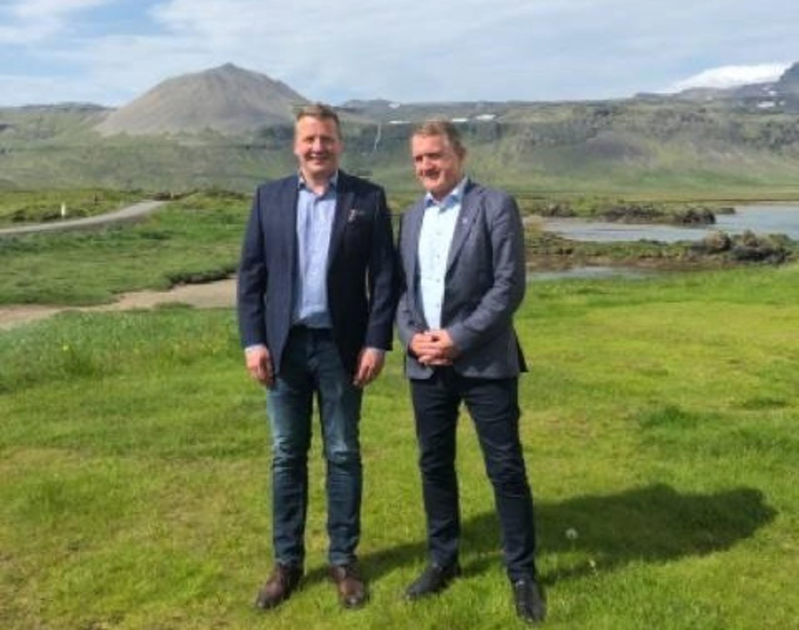 Guðlaugur Þór Þórðarson, utanríkis- og þróunarsamvinnuráðherra, og Jenis av Rana, …