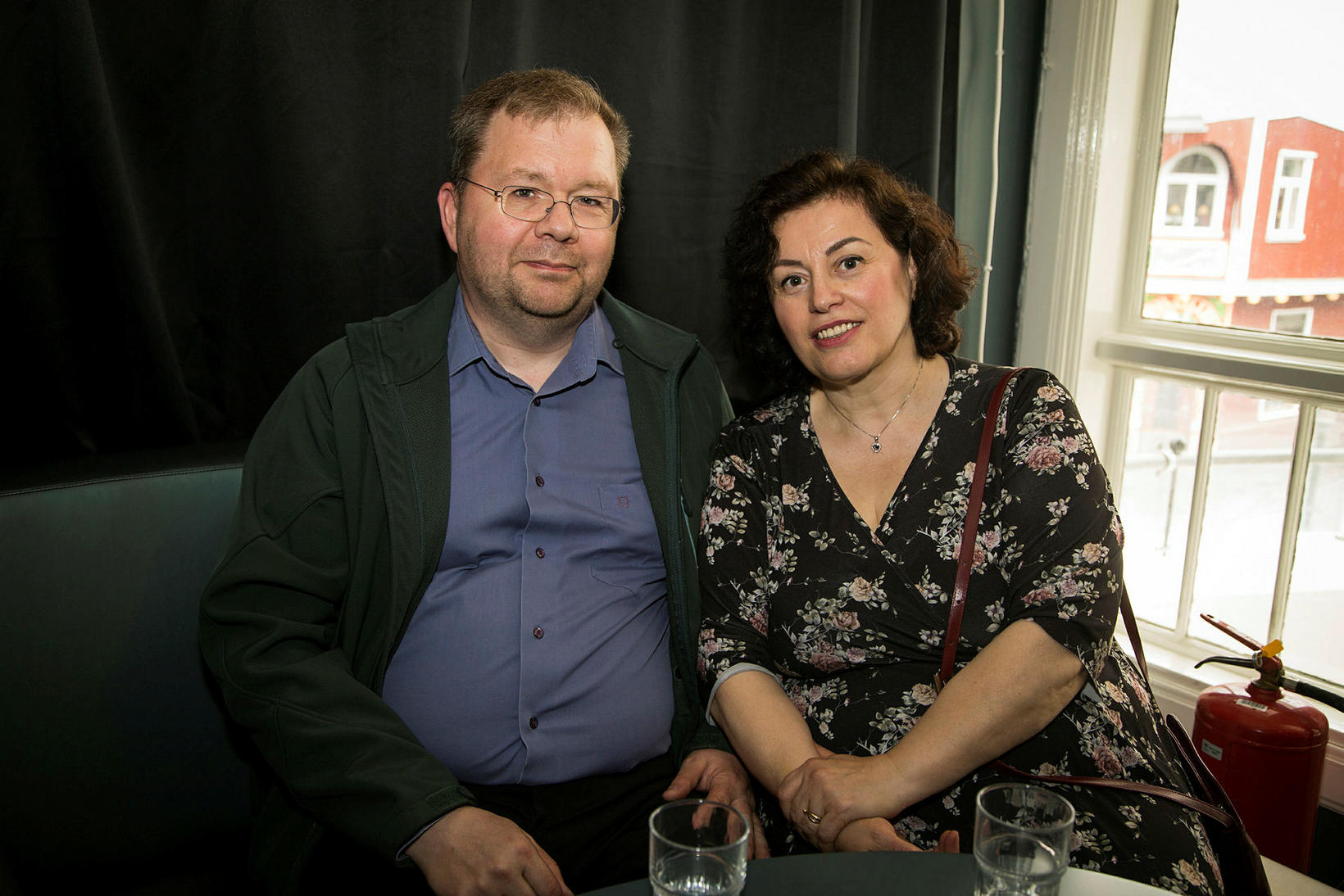 Valdimar Tryggvasson og Mirela Protopapa.