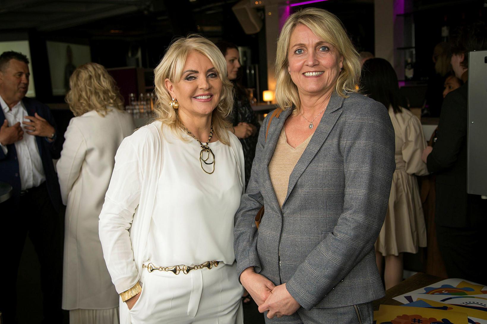 Linda Baldvinsdóttir og Hanna Hauksdóttir.