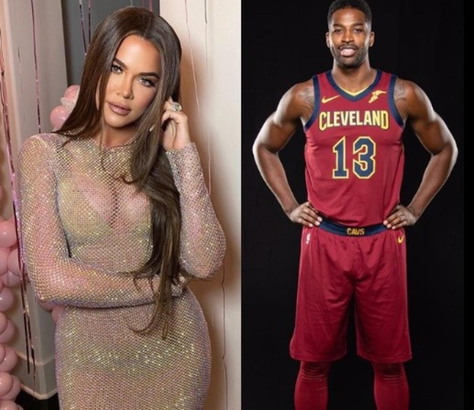 Khloé Kardashian og Tristan Thompson.