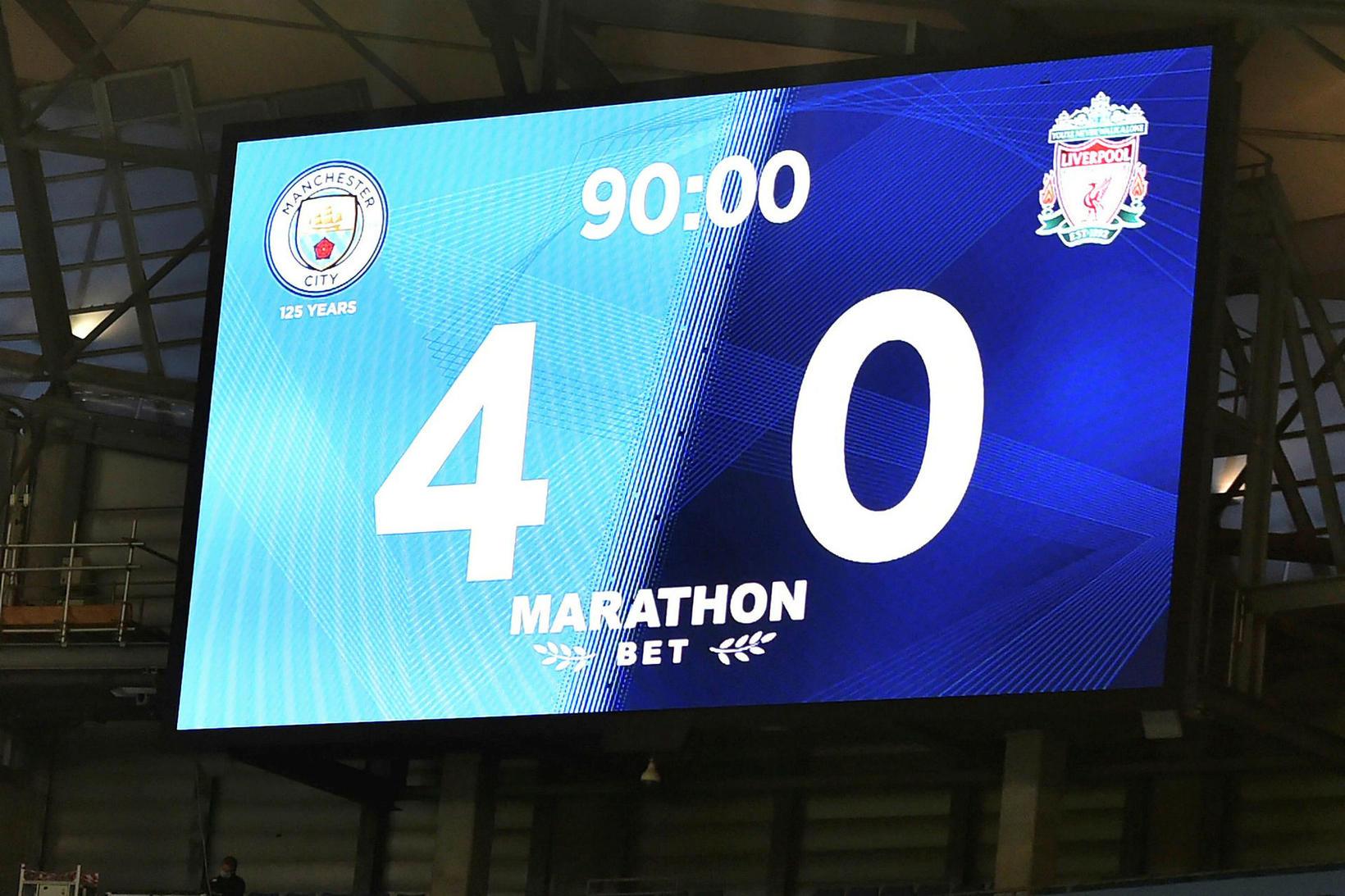 Manchester City vann stórsigur gegn Liverpool í ensku úrvalsdeildinni í …
