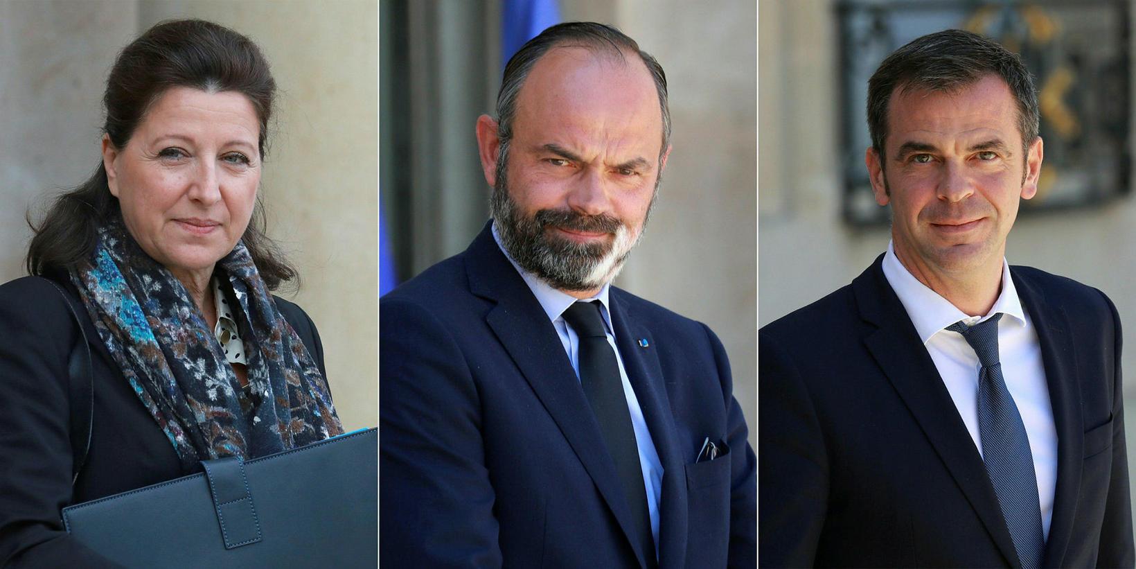 Agnès Buzyn, Edouard Philippe og Olivier Véran eru undir rannsókn.