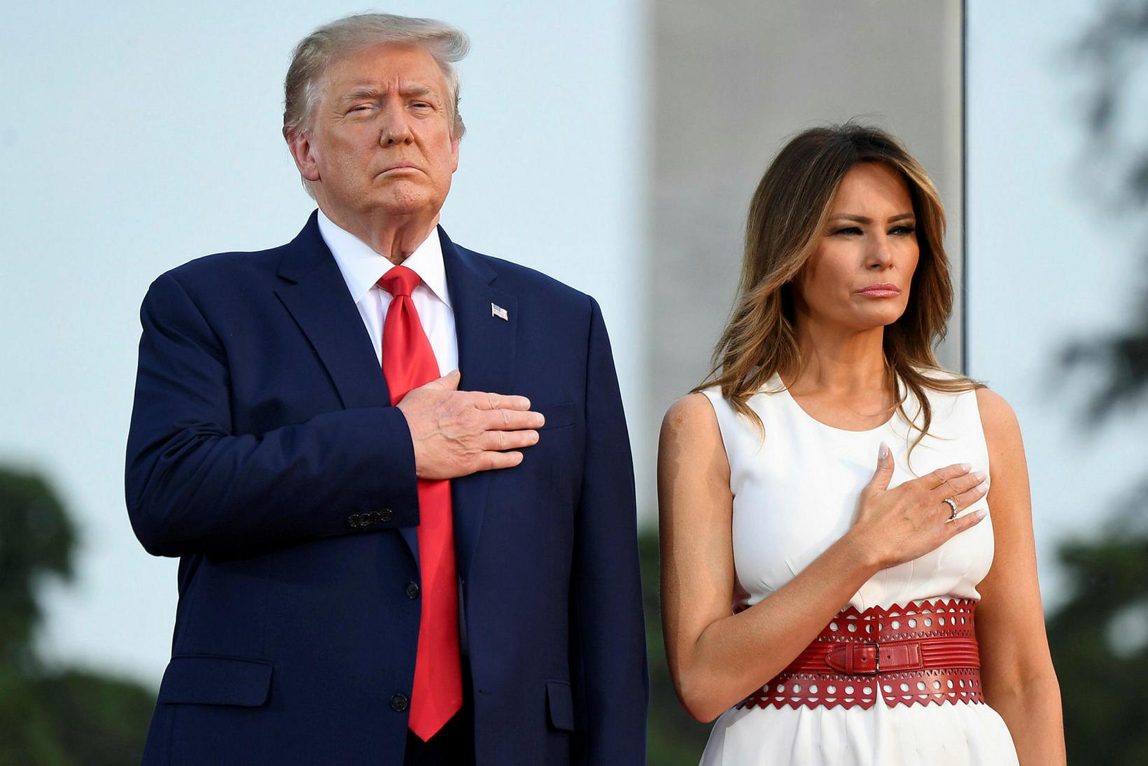 Bandarísku forsetahjónin, Donald Trump og Melania Trump.