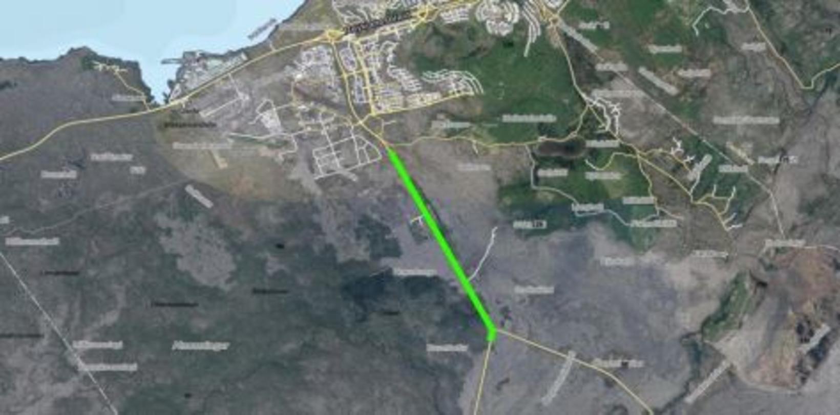 Kaflinn er 3,2 km langur og verður Krýsuvíkurvegur alveg lokaður …
