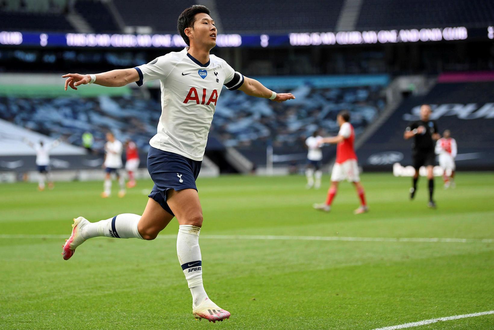 Son Heung-Min var fljótur að jafna metin fyrir Tottenham gegn …