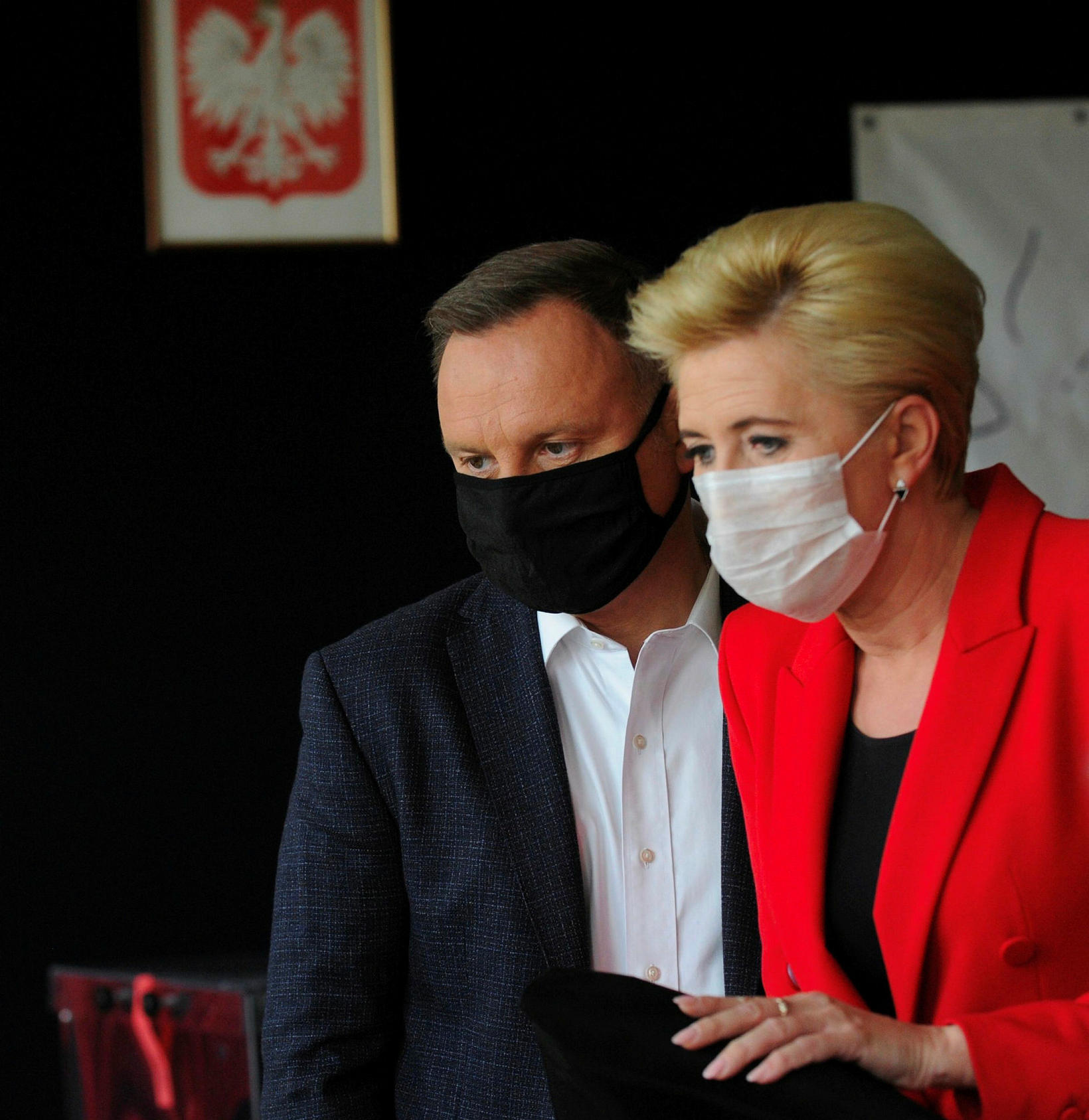 Forsetahjónin Andrzej Duda og Agatha.