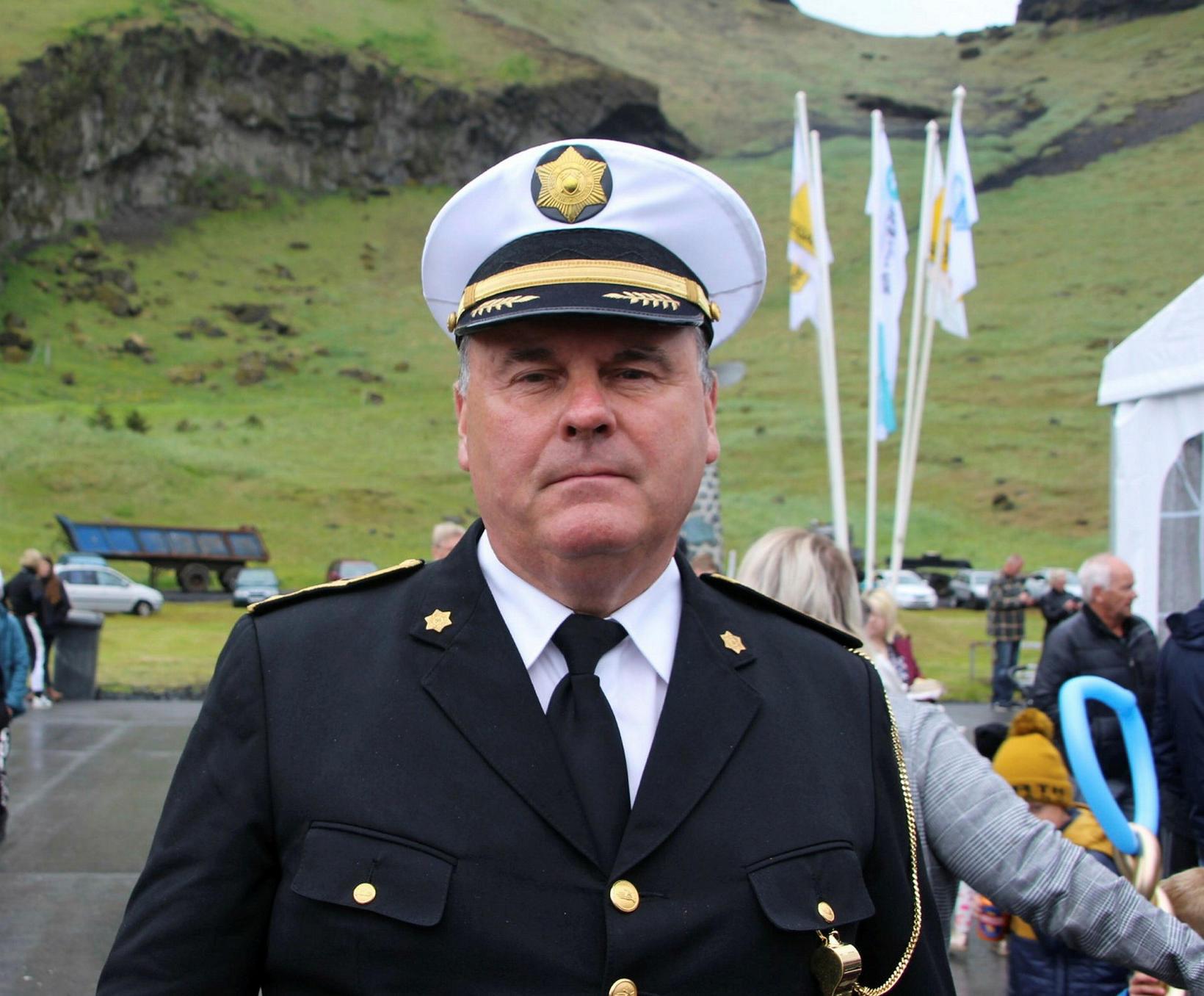 Jóhannes Ólafsson yfirlögregluþjónn í Vestmannaeyjum.