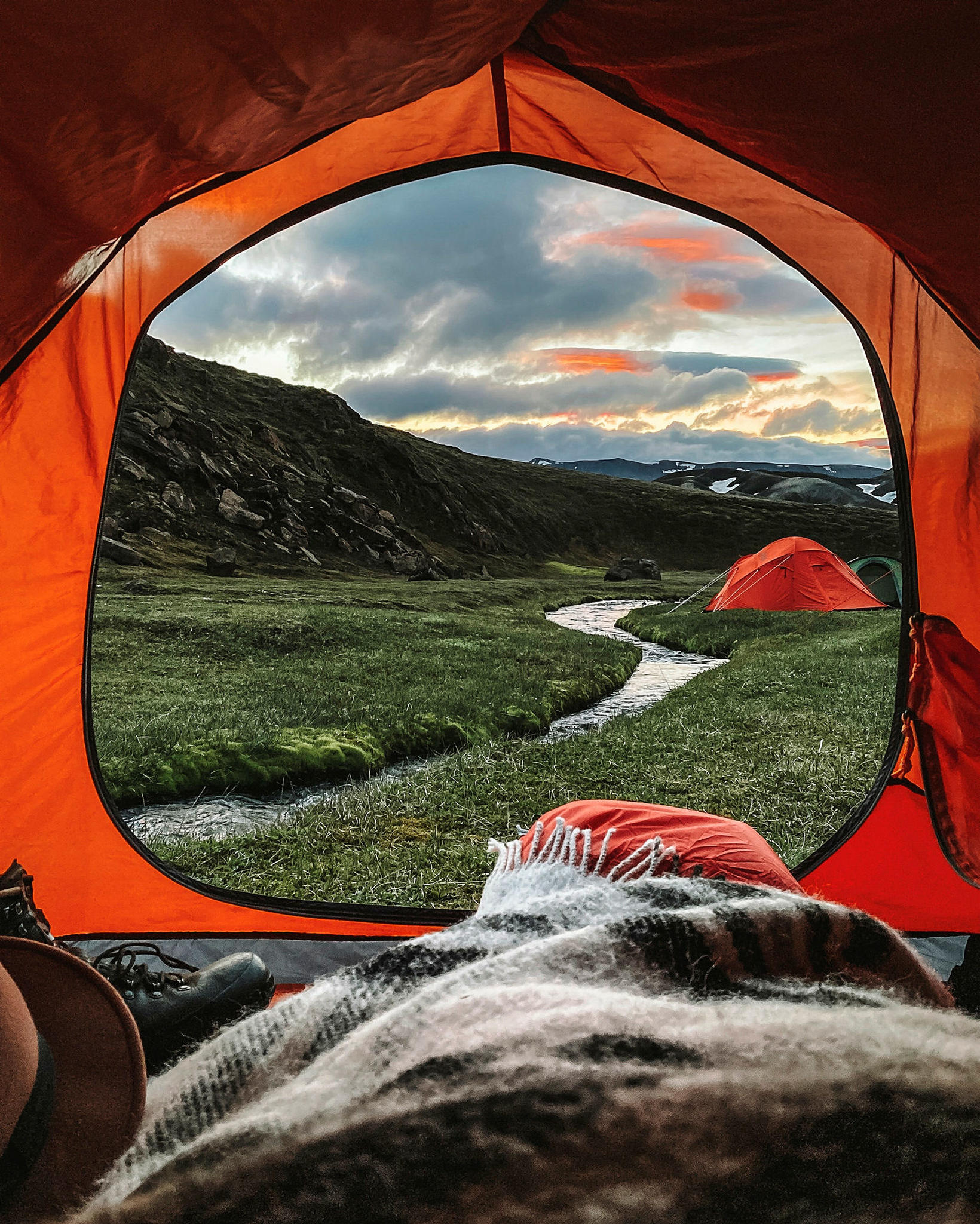 Jón has spent most nights in a tent this summer.