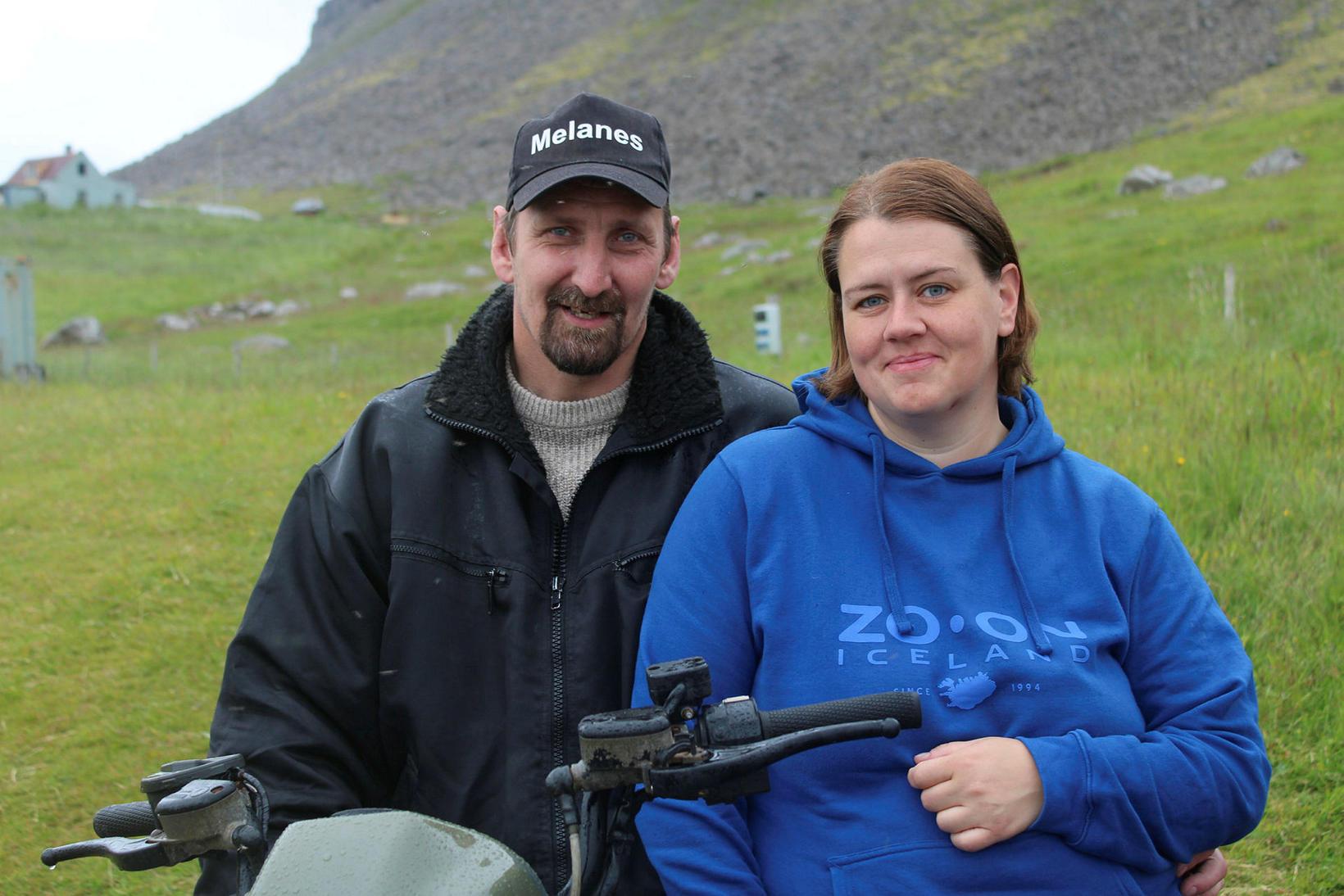 Melanesbændurnir Ástþór Skúlason og Sigríður María Sigurðardóttir.