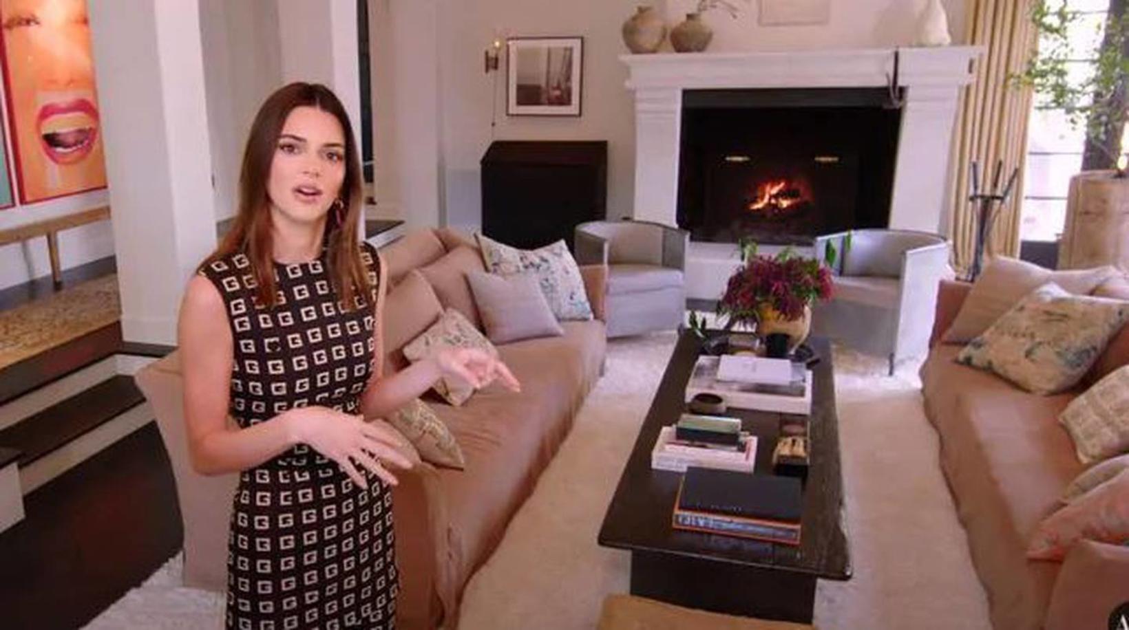 Jenner er ekki með sjónvarp í stofunni.