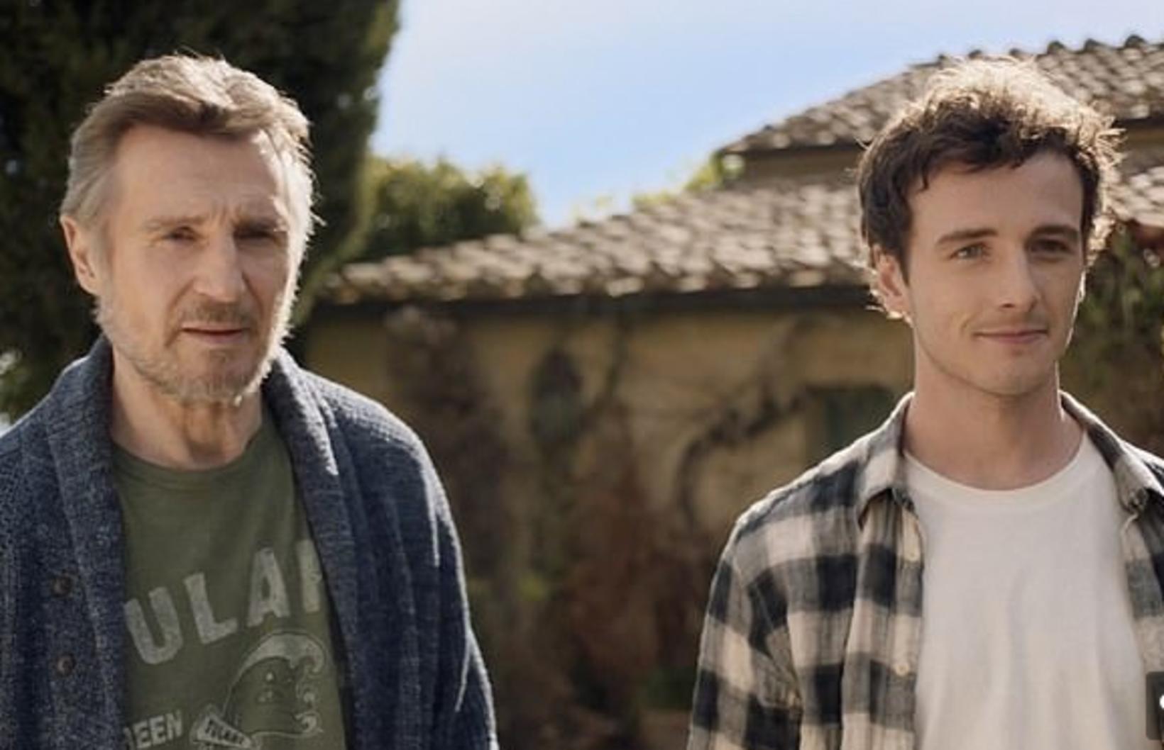 Feðgarnir Liam Neeson og Micheál Richardson leika saman.