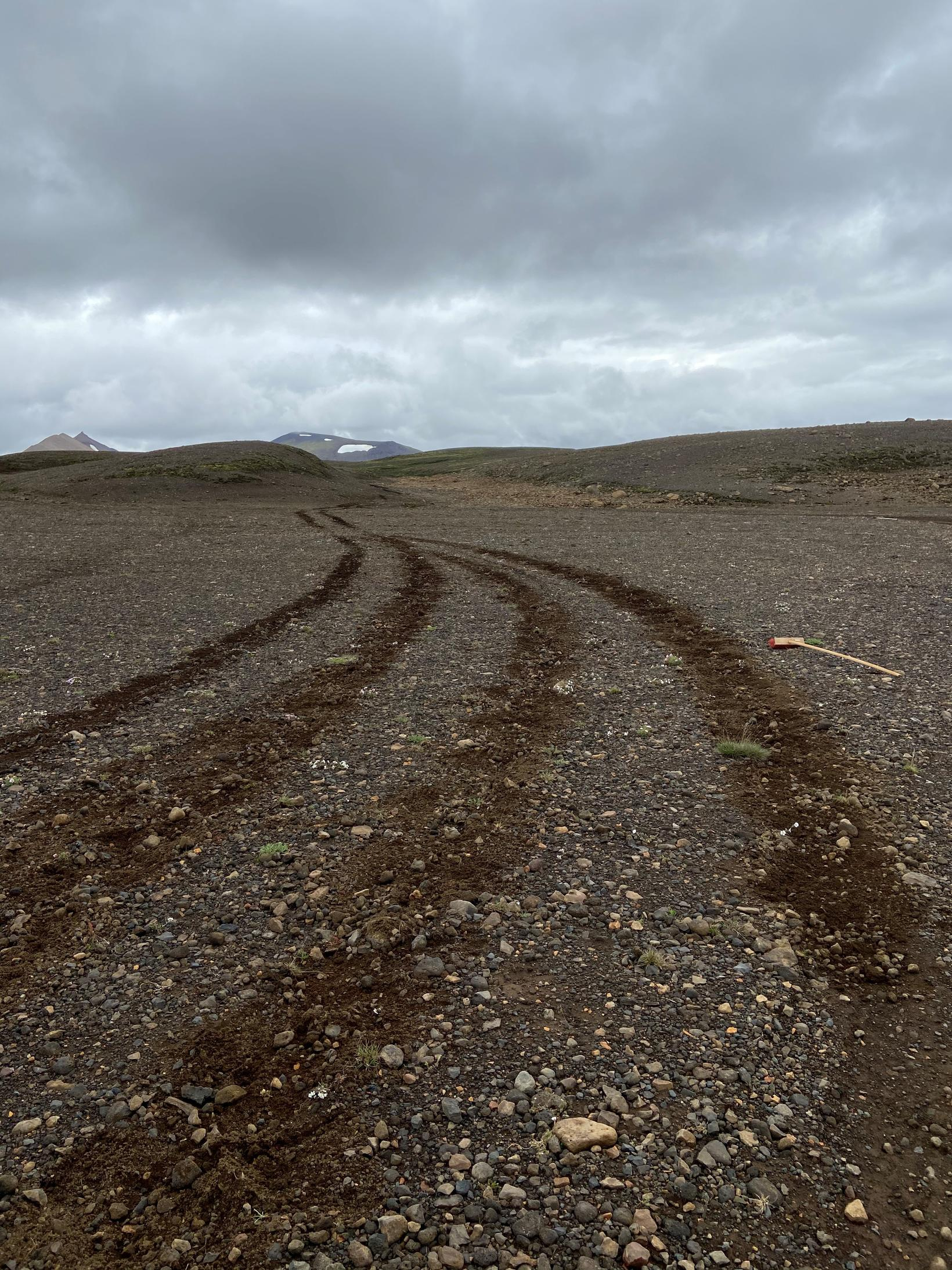 Off-road driving is illegal in Iceland.