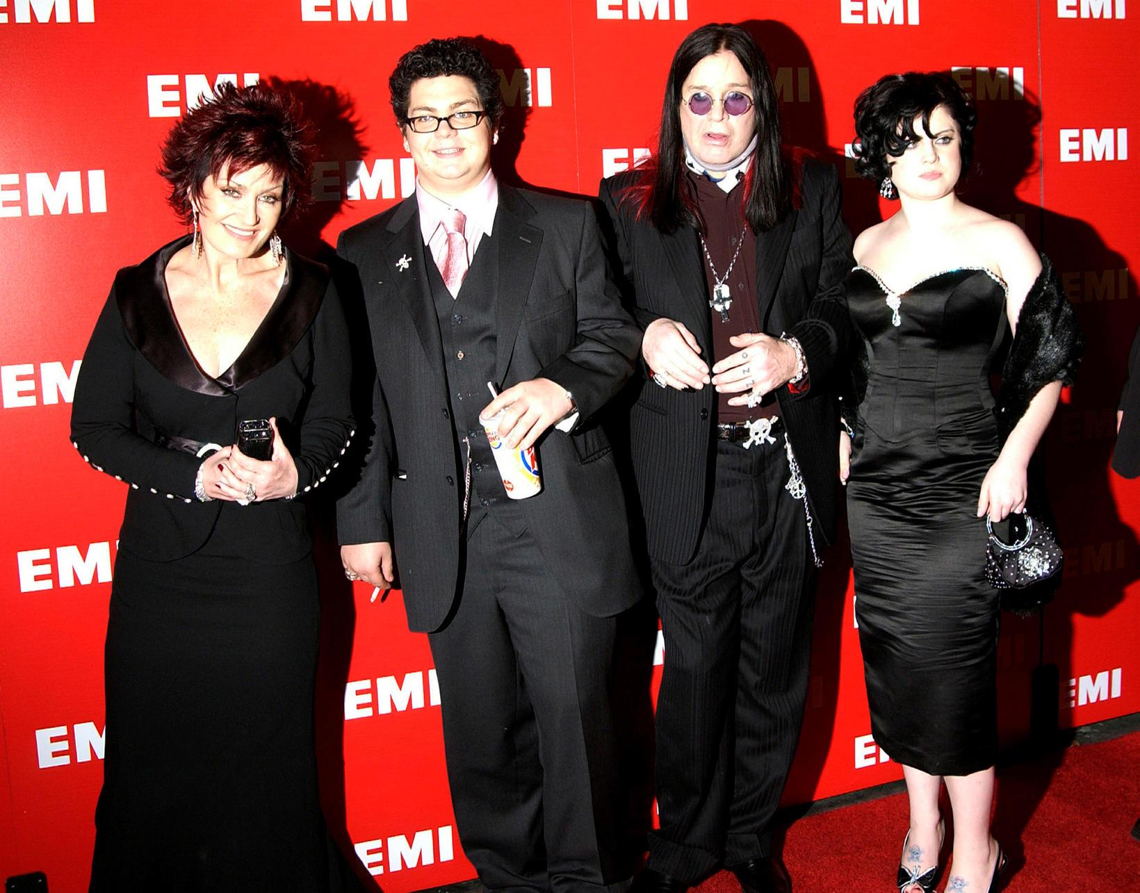Osbourne-fjölskyldan í banastuði að vanda; Sharon, Jack, Ozzy og Kelly.