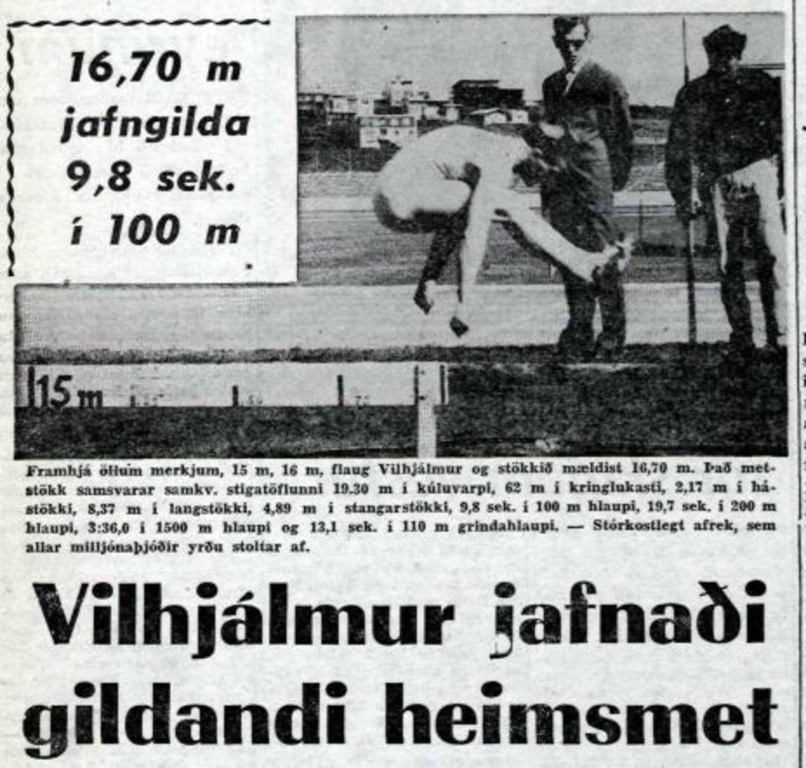 Forsíða Morgunblaðsins þriðjudaginn 9. ágúst. Stórkostlegt afrek sem allar milljónaþjóðir …