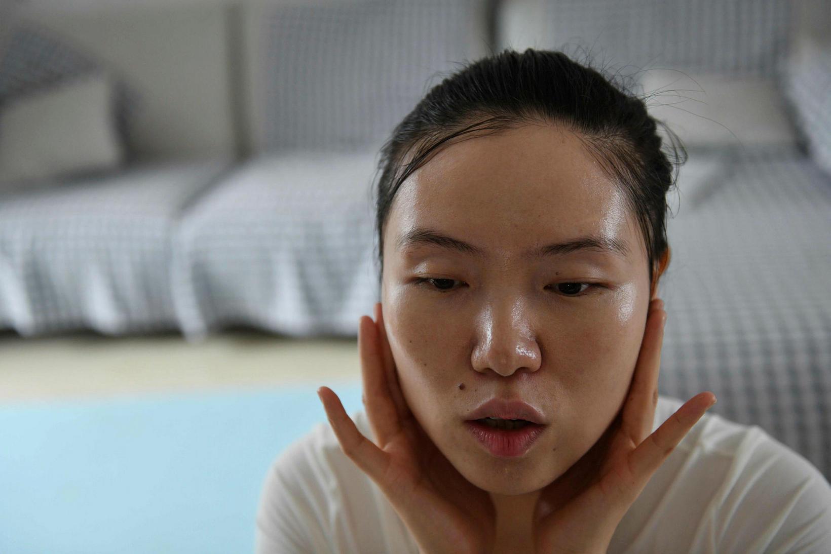 Xiao Jia hefur ítrekað orðið fyrir því að karlar káfi …