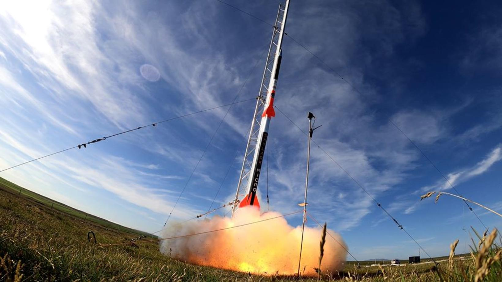 The rocket being launched.