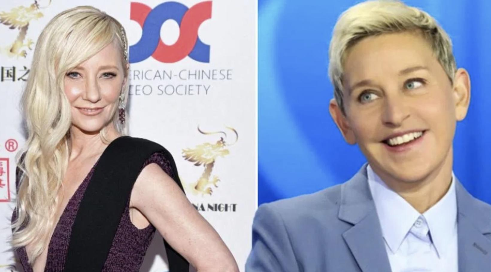 Anne Heche og Ellen DeGeneres áttu í ástarsambandi.