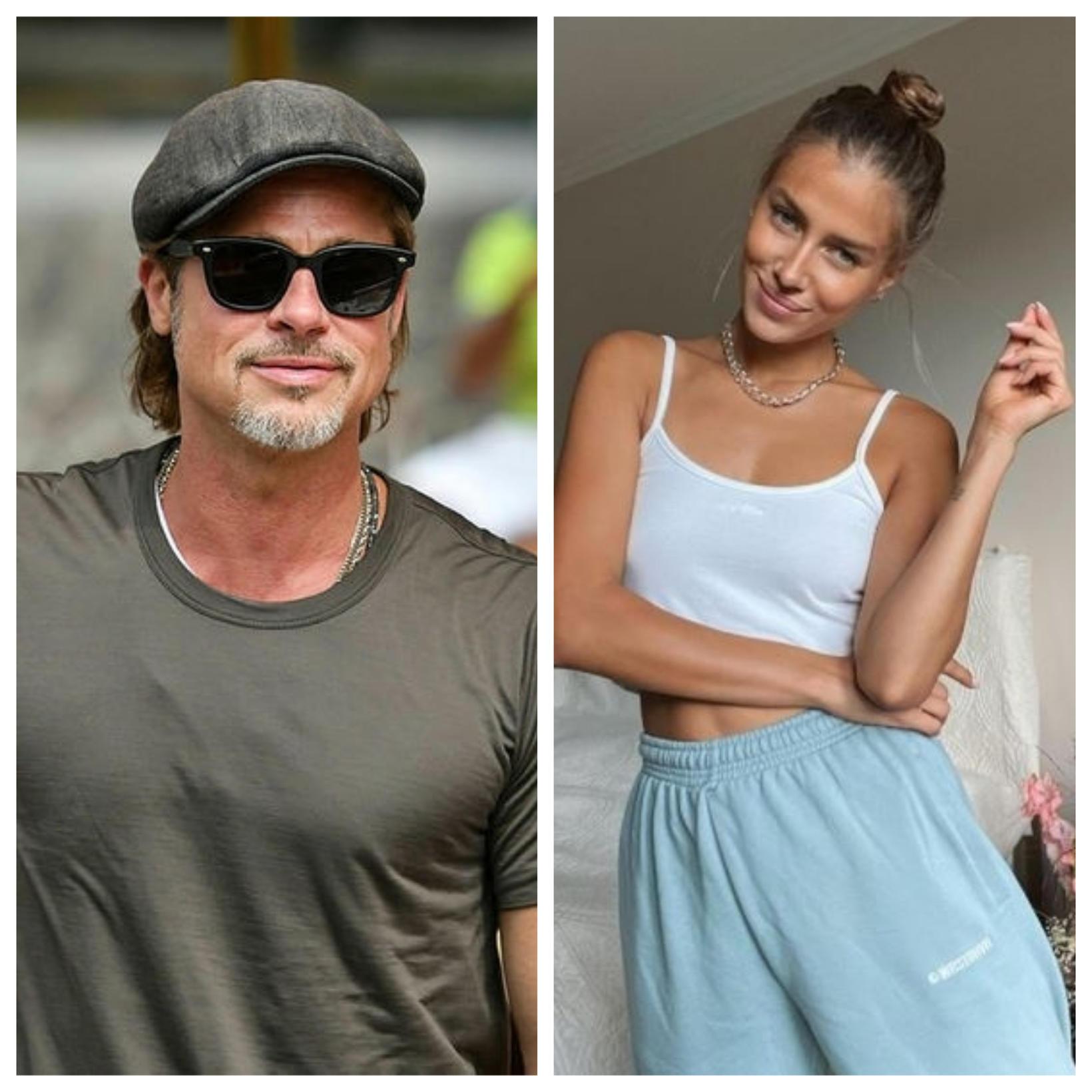 Brad Pitt er í fríi með Nicole Poturalski.