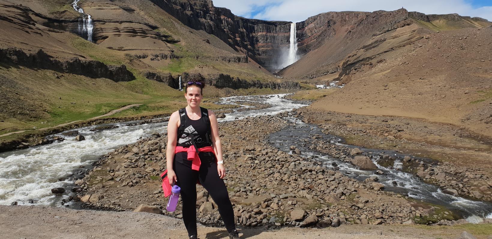 Linda Björk fer út að ganga og í fjallgöngur.