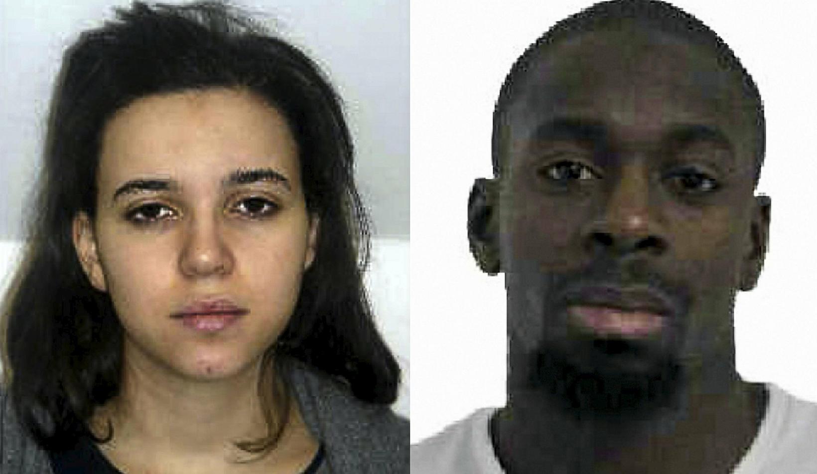 Hayat Boumeddiene og Amedy Coulibaly.