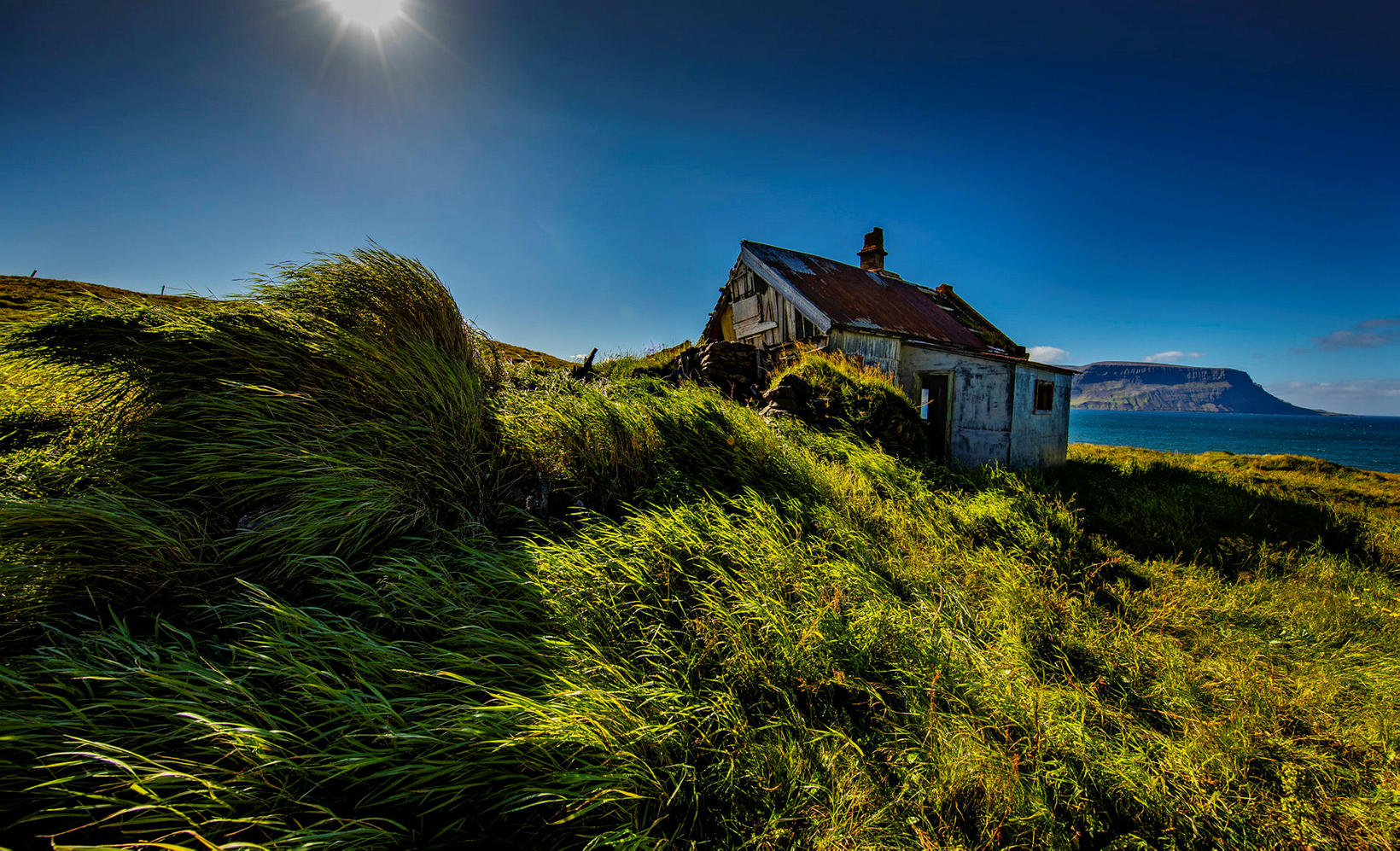 The abandoned farm Arnarnes in Dýrafjörður fjord.