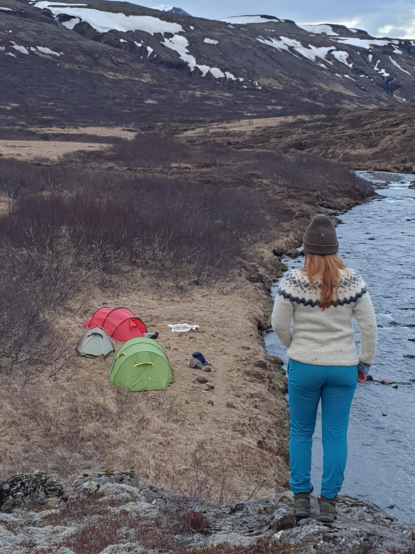 Valgerður fór daglega í fjallgöngu í samkomubanninu.