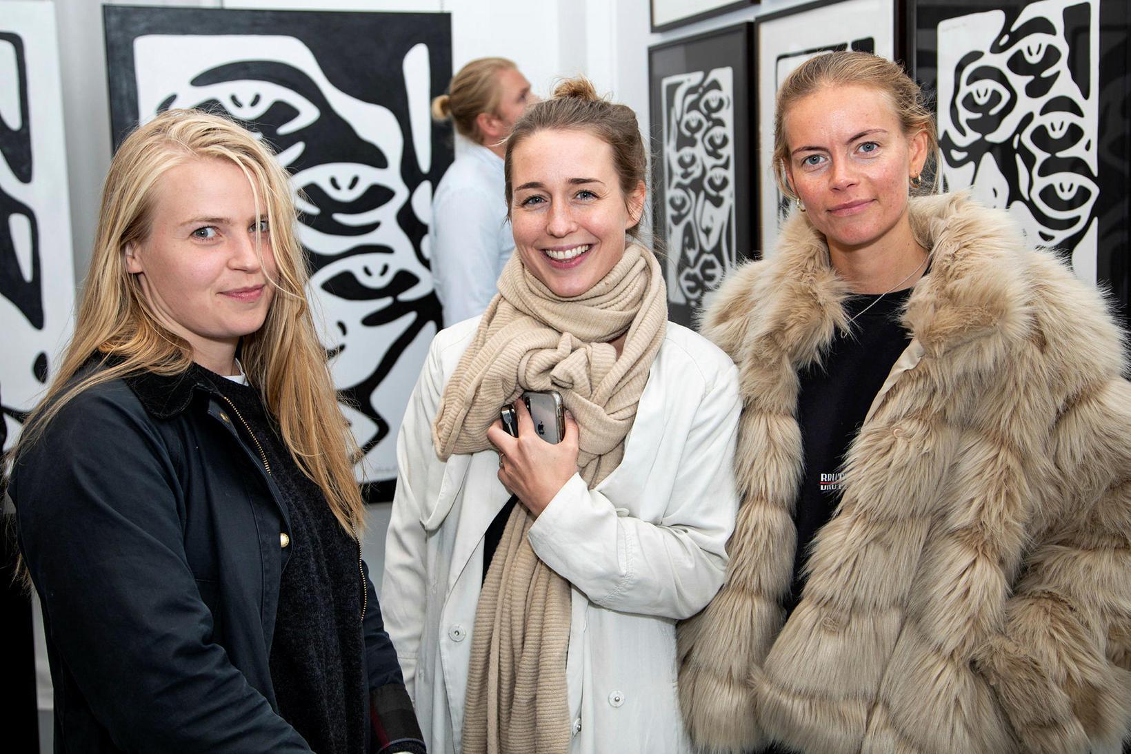 Ragna Ragnarsdóttir, Andrea Karlsdóttir og Kristín Pétursdóttir.