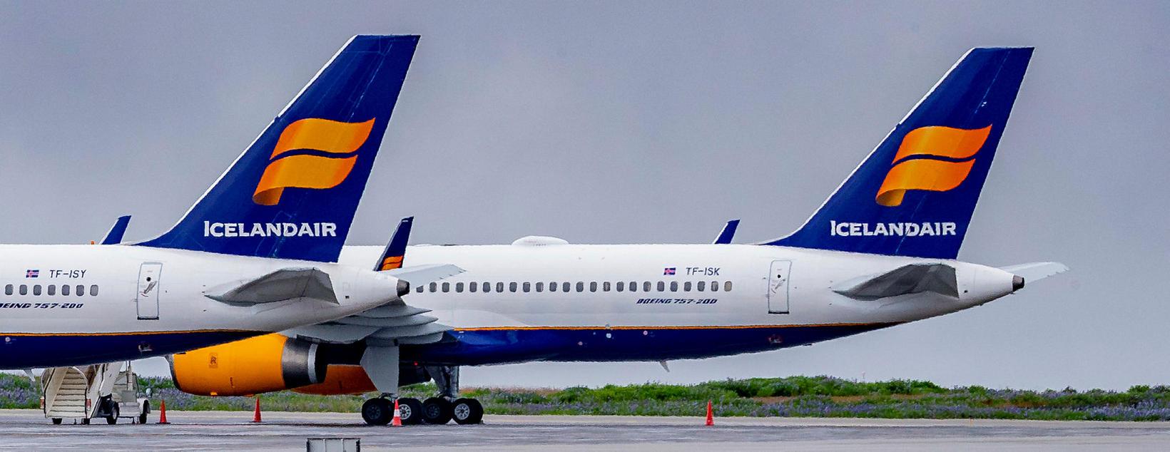 Starfsemi Icelandair hefur verið í lágmarki meðan á faraldrinum hefur …