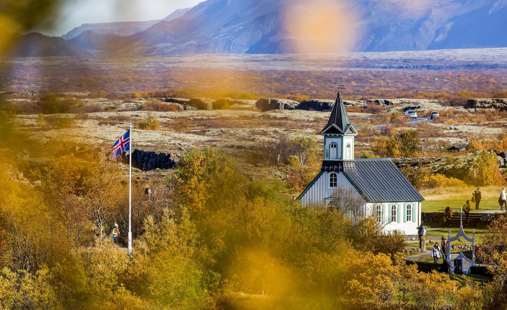 Góð núvitundaræfing að upplifa haustlitina.