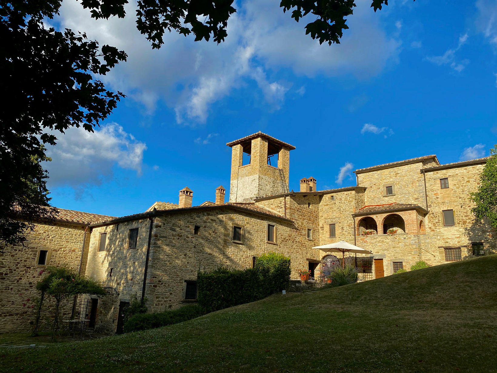 Abbazia San Faustino er gamalt munkaklaustur.