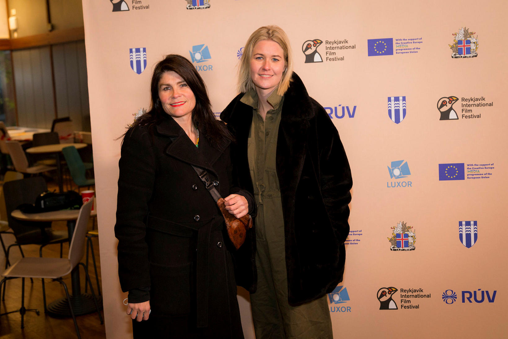 Ísold Uggadóttir og Una Lind Hauksdóttir.