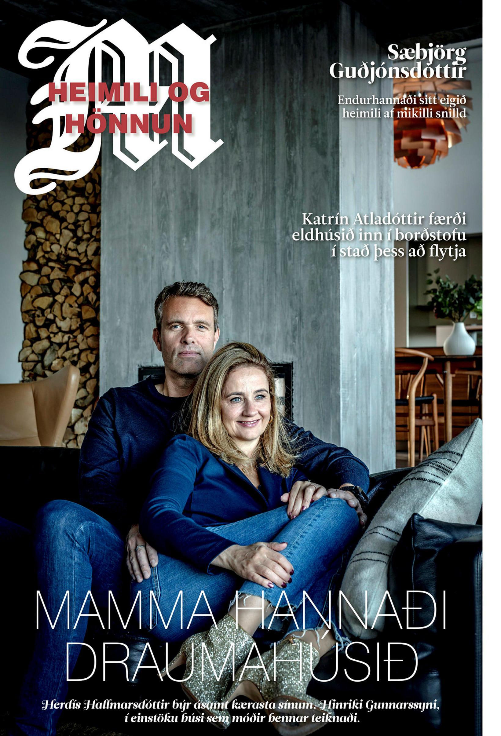 Hinrik Gunnarsson og Herdís Hallmarsdóttir prýða forsíðu blaðsins.