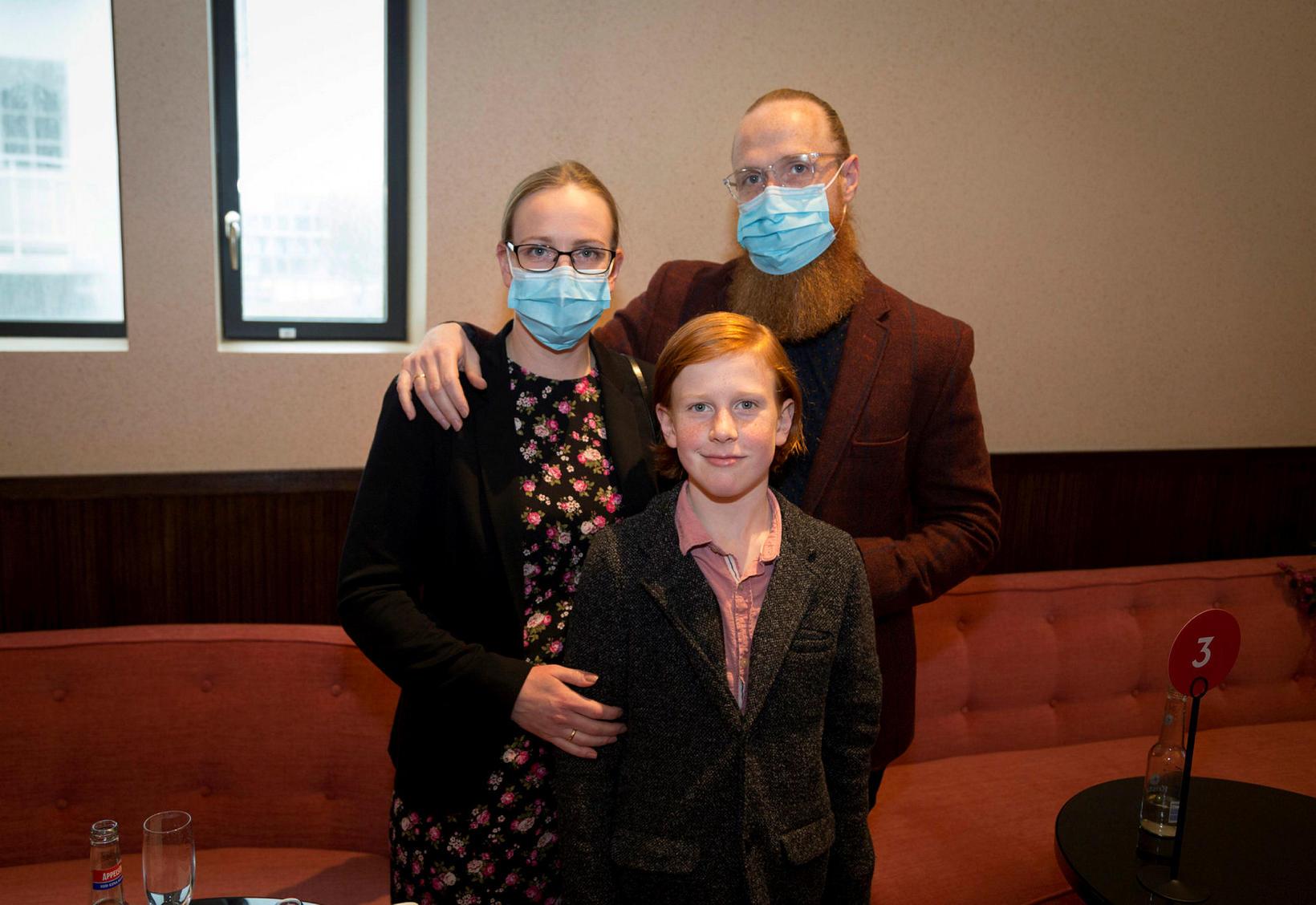 Hólmfríður Birna Guðmundsdóttir, Benedikt Aron Jóhannsson og Jóhann Ingi Benediktsson.
