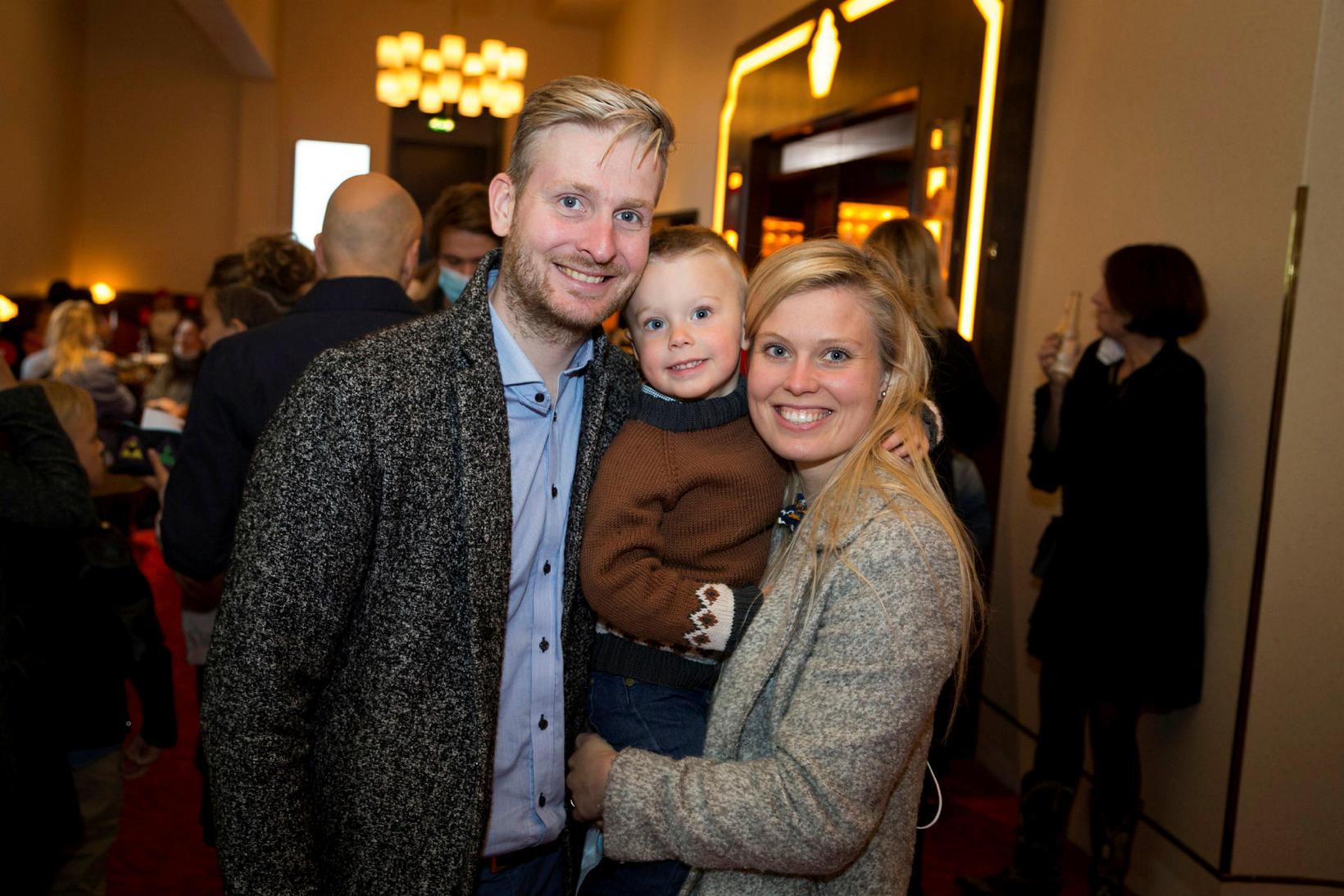 Karl Már Lárusson, Tómas Már Karlsson og Sigríður Ólöf Valdimarsdóttir.