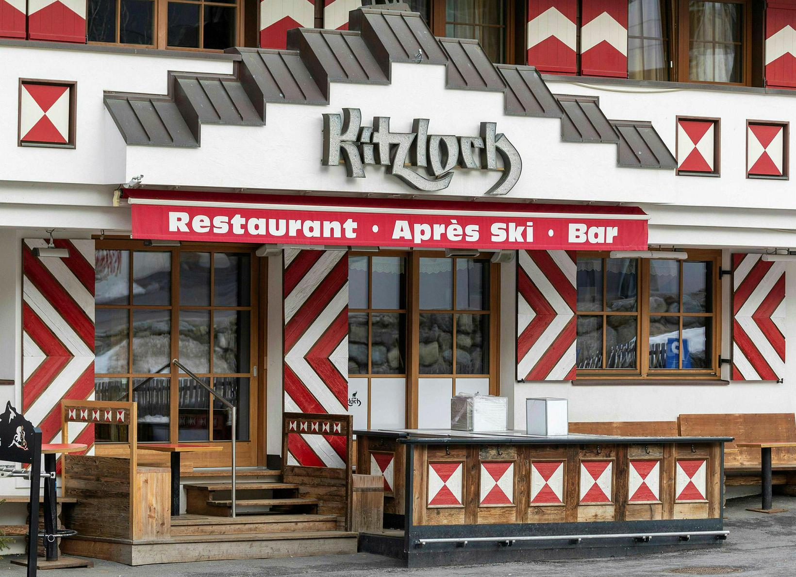 Vinsæll skíðabar, Kitzloch, er tekinn sem dæmi þar sem veiran …