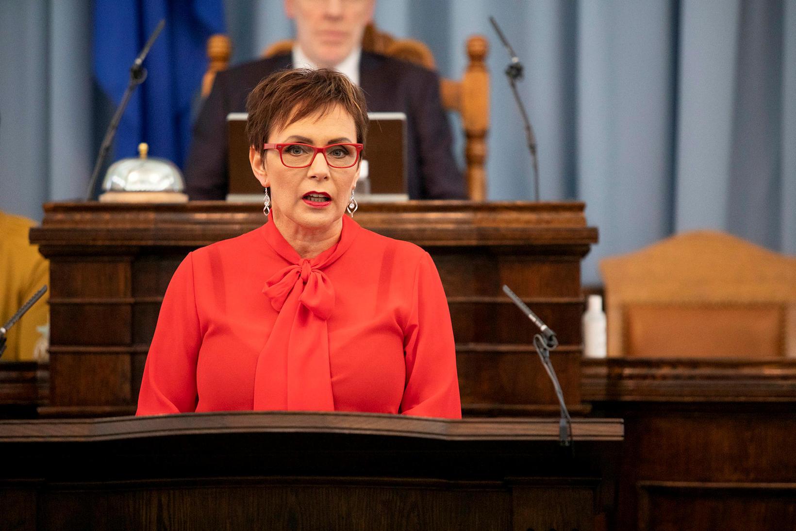 Bjarkey Olsen Gunnarsdóttir, þingmaður Vinstri grænna.