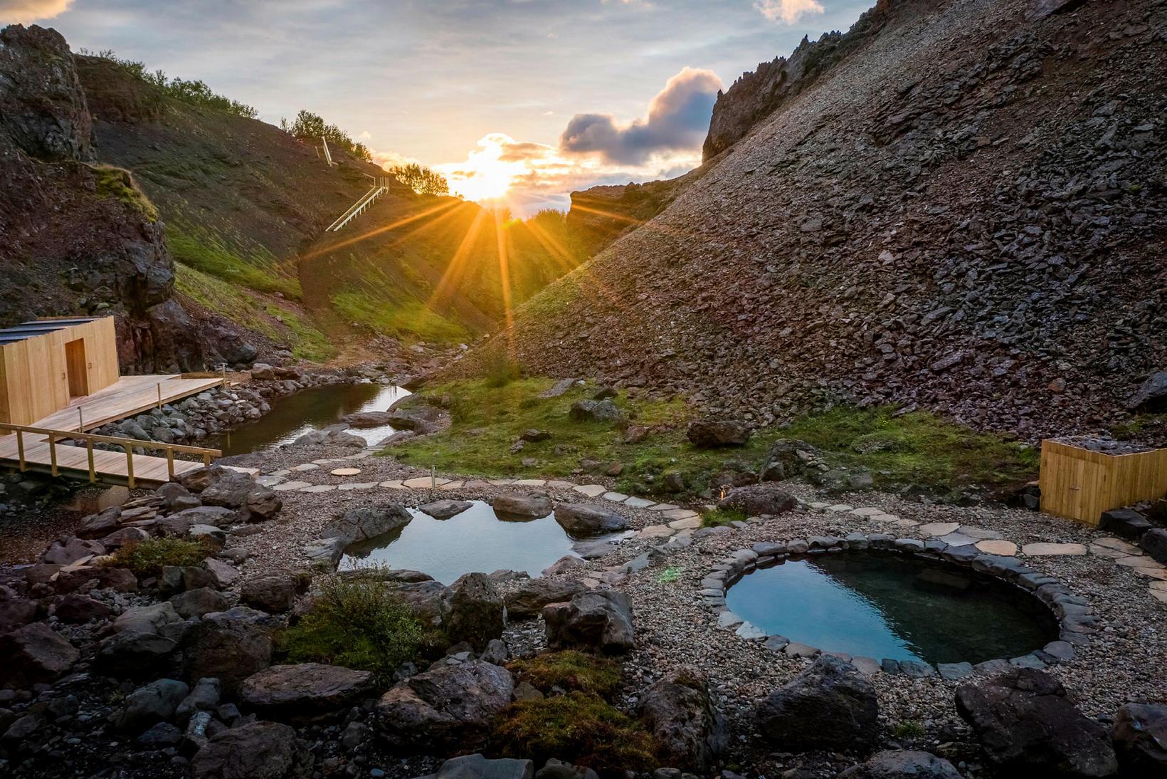 Giljaböð baths near Húsafell.