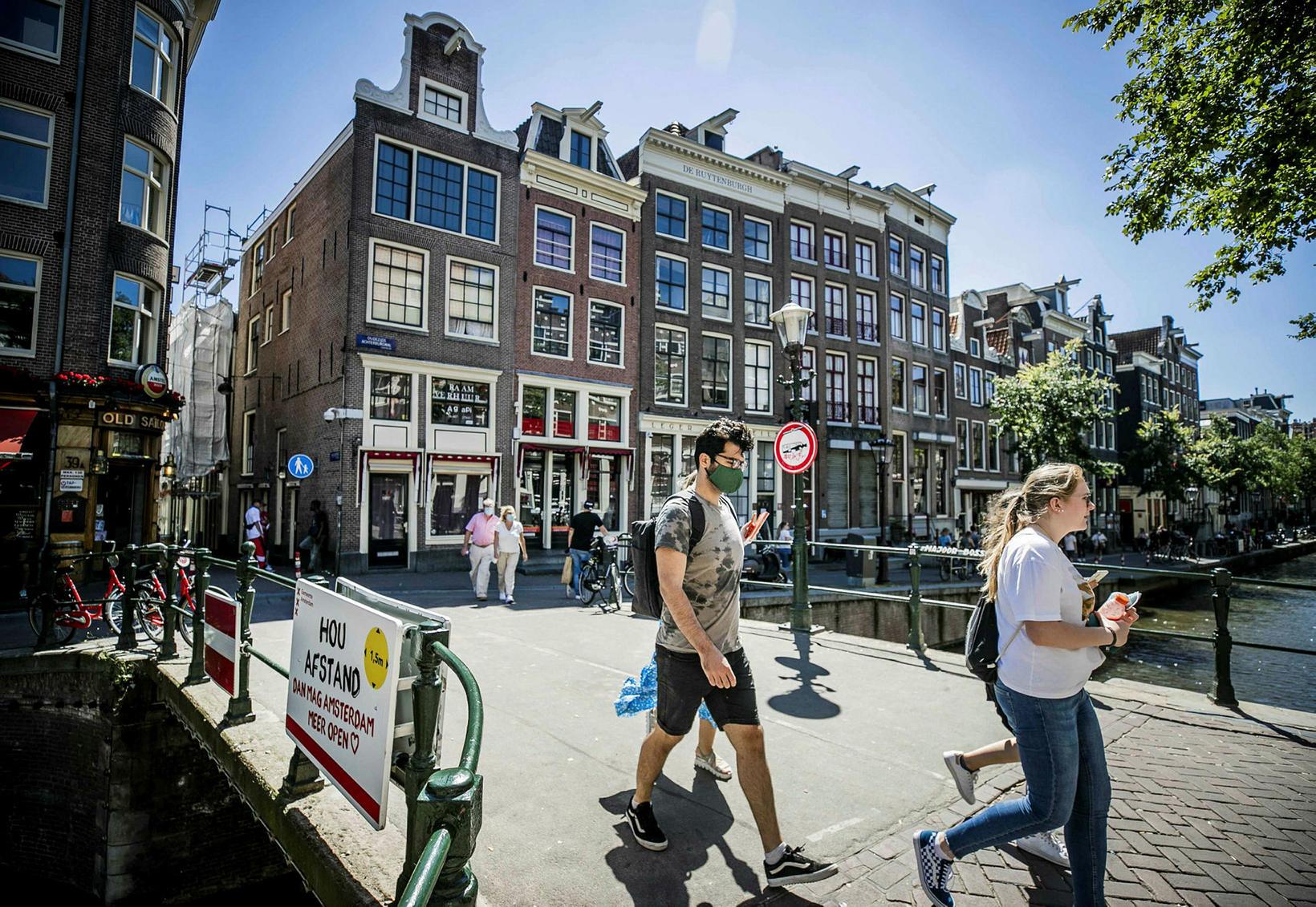 Rauðahverfið í Amsterdam.