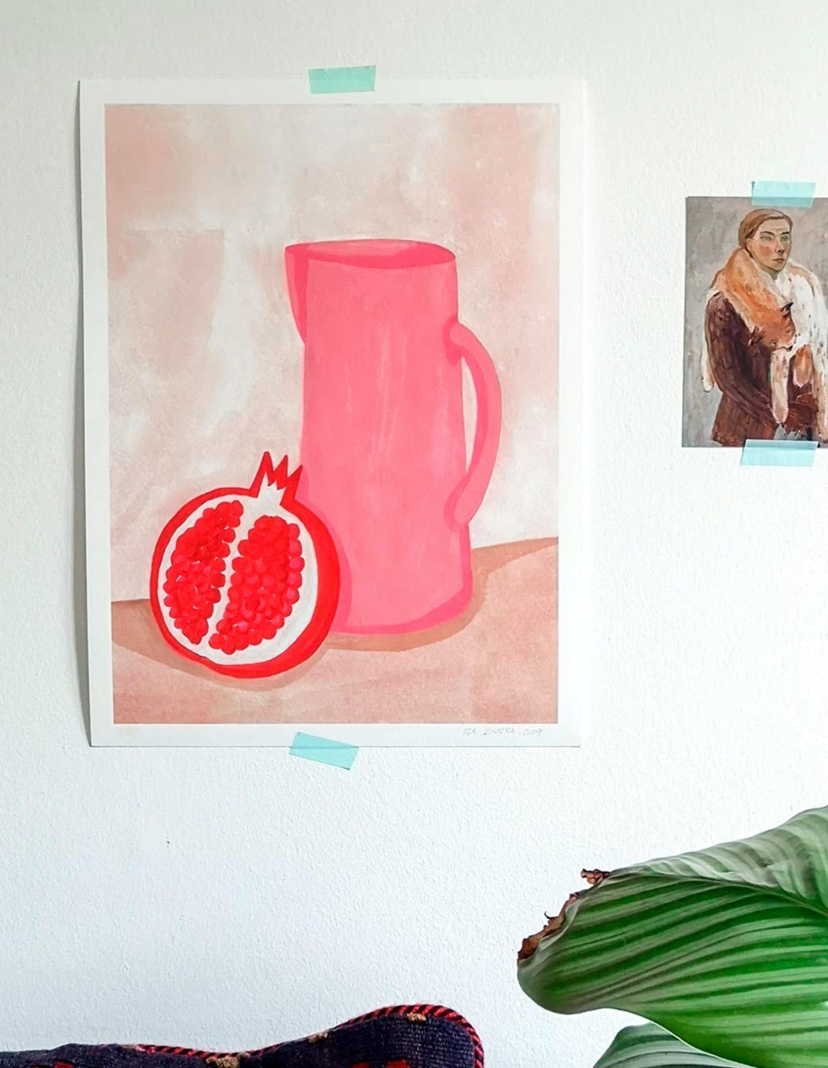 """Pomegranate"", 30 x 40 cm – Iga Illustrations."