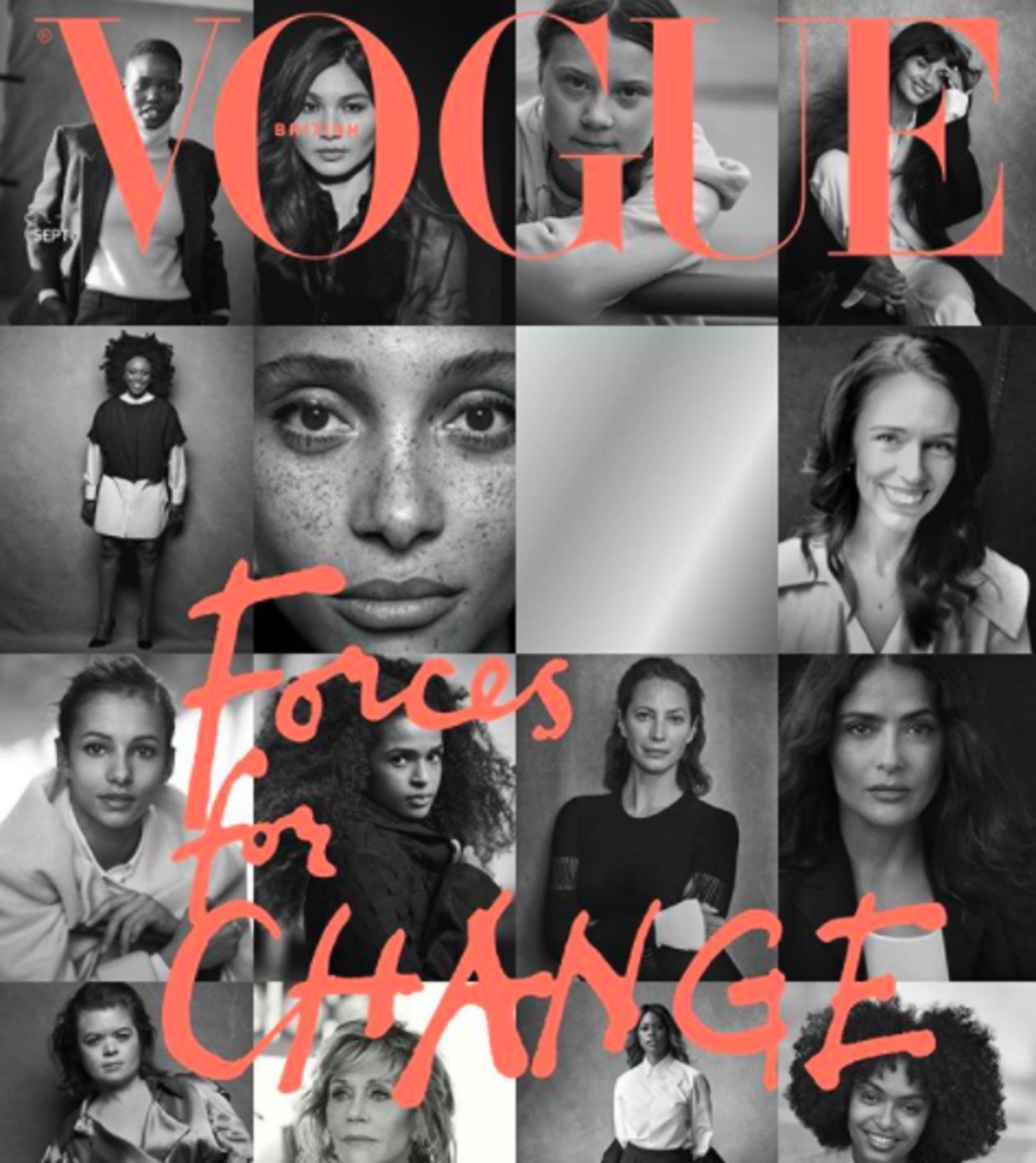 Vogue forsíðan umdeilda.