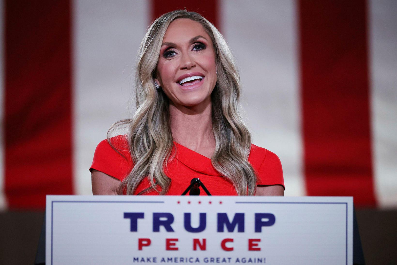 Lara Trump er bæði tengdadóttir Trumps og pólitískur ráðgjafi hans.