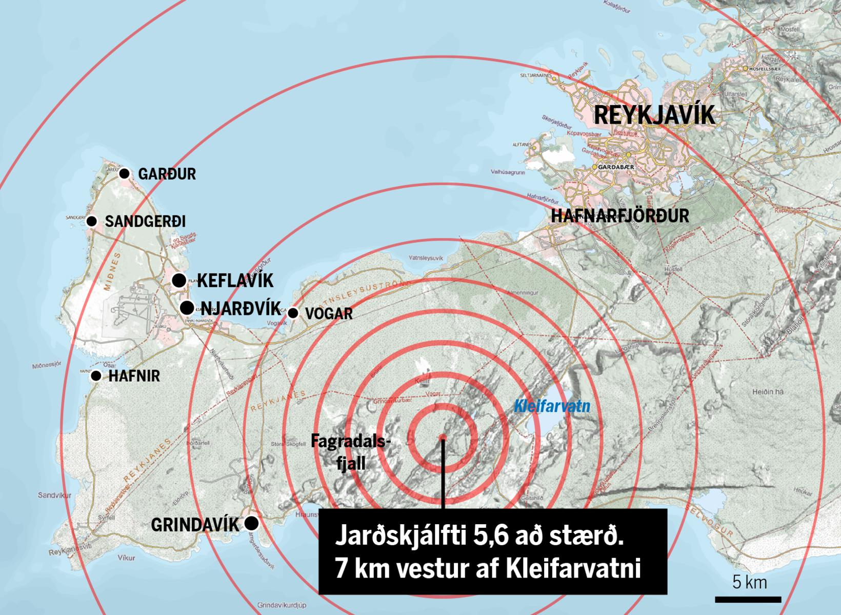 The map shows the source of the earthquake, 7 km …