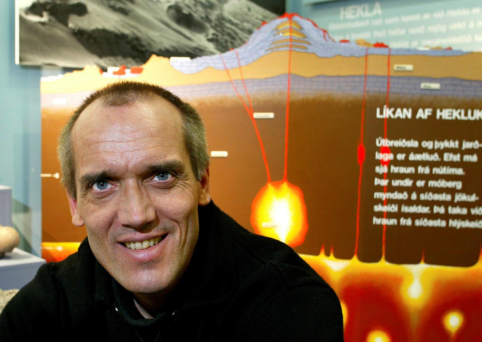 Dr. Ármann Höskuldsson, eldfjallafræðingur.