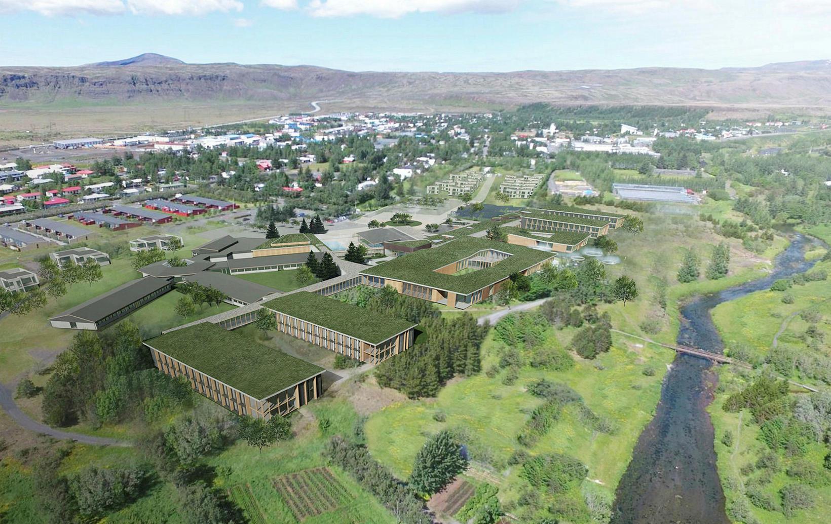 Tillaga T.ark að uppbyggingu hjá Náttúrulækningafélagi Íslands í Hveragerði.